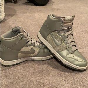 Glitter Nike High Tops